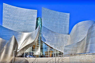 Photograph - Walt Disney Concert Hall Vertical Exterior Building Frank Gehry Architect 10 by David Zanzinger