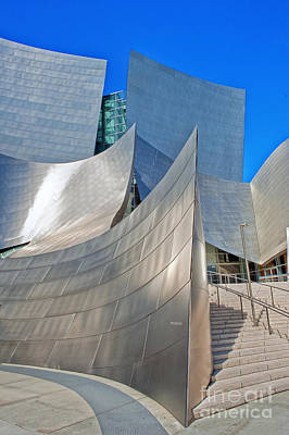 Photograph - Walt Disney Concert Hall Vertical Exterior Building Frank Gehry Architect 11 by David Zanzinger