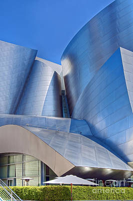Photograph - Walt Disney Concert Hall Vertical Exterior Building Frank Gehry Architect 12 by David Zanzinger