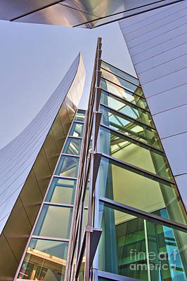 Photograph - Walt Disney Concert Hall Vertical Exterior Building Frank Gehry Architect 6 by David Zanzinger