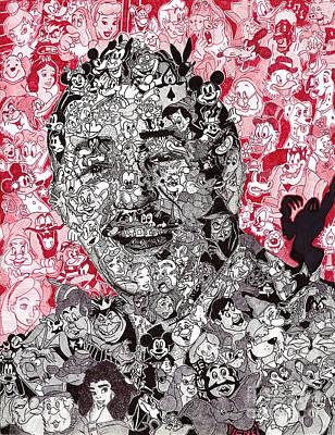 Ballpoint Drawing - Walt Disney Memories by Serafin Ureno