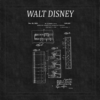 Abstract Animalia Royalty Free Images - Walt Disney Patent 2 Royalty-Free Image by Andrew Fare