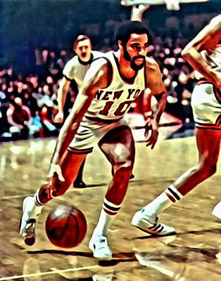 Knicks Painting - Walt Frazier by Florian Rodarte