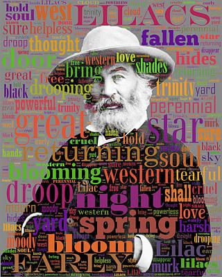 Digital Art - Walt Whitman by Eric Edelman