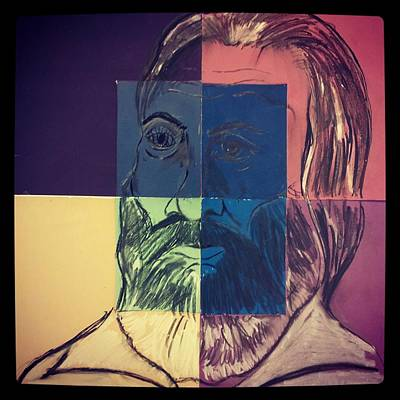 Painting - Walt Whitman In Color by Nickolas Kossup