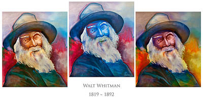 Writer Mixed Media - Walt Whitman Poster by Robert Lacy