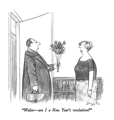 Walter  -  Am I A New Year's Resolution? Art Print