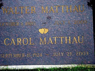 Photograph - Walter Matthau Grave by Jeff Lowe
