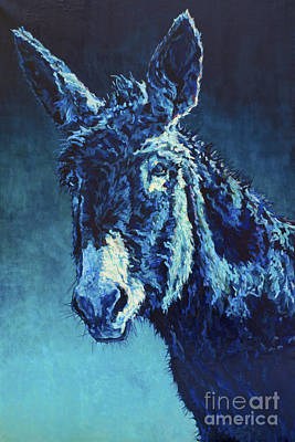 Burro Painting - Walter by Patricia A Griffin