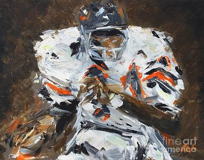 Painting - Walter Payton by Steven Dopka