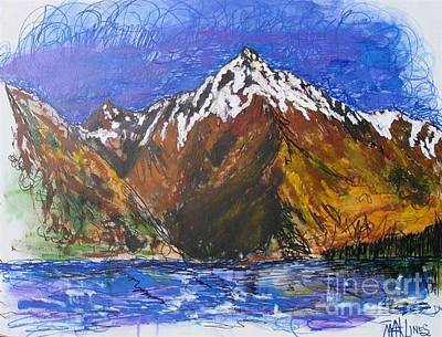 Painting - Walter Peak Queenstown  by Max Lines