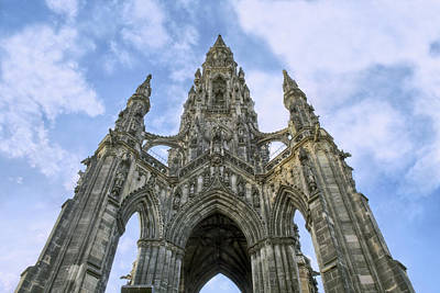 Photograph - Walter Scott Monument - Edinburgh - Scotland by Jason Politte