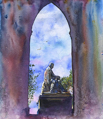 Painting - Walter Scott Monument Scotland by John D Benson