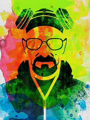 Heisenberg Painting - Walter Watercolor by Naxart Studio