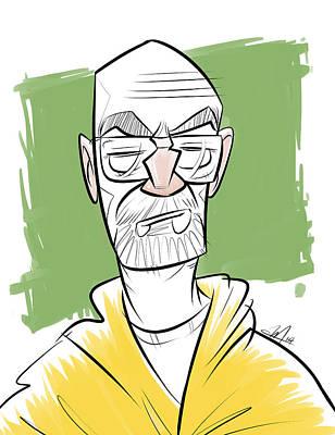 Walter White Aka Heisenberg From Breaking Bad Art Print