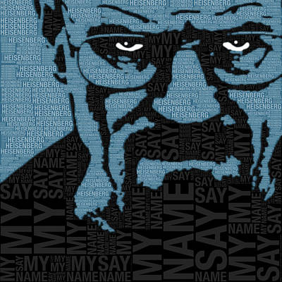 Walter White Heisenberg Breaking Bad Art Print by Tony Rubino