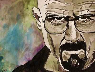 Crystal Meth Painting - Walter White by Jeremy Moore