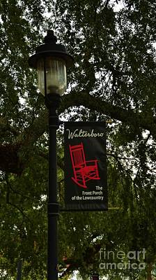 Walterboro Sc Side Walk Banner Print by Bob Sample