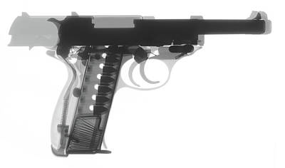 Photograph - Walther P38 X-ray Photograph by Ray Gunz