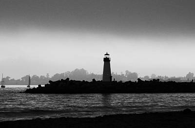 Photograph - Walton Lighthouse Bw by Deana Glenz