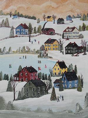 Painting - Waltzing Snow by Virginia Coyle