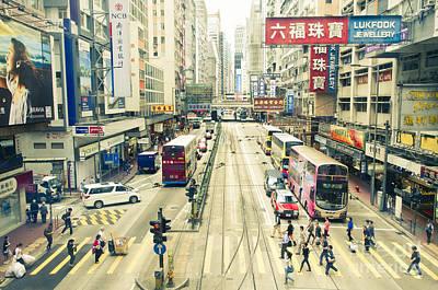 Wan Chai Photograph - Wan Chai Street View In Hong Kong by Tuimages