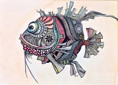 Painting - Wanda The Fish by Iya Carson