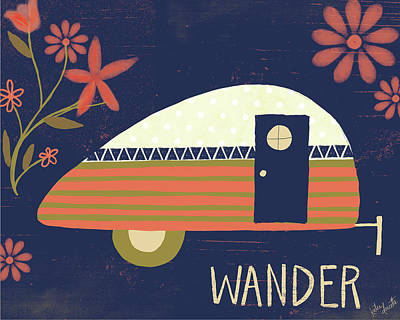 Camper Painting - Wander by Katie Doucette