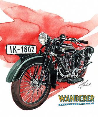 Wanderer Typ 708 Art Print