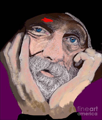 Portrait Mixed Media Iphone Cases Painting - Wanderer by Craig Nelson