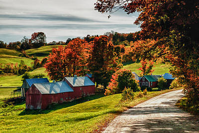 Wandering Down The Road Art Print by Jeff Folger