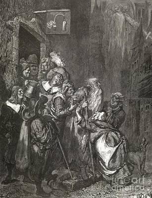 Wandering Jew Legend, 1856 Artwork Art Print by British Library