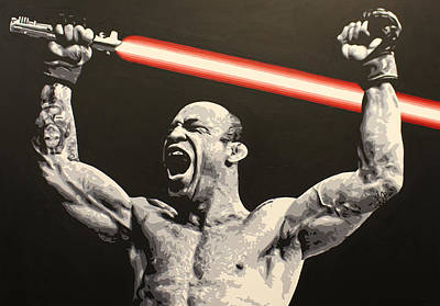 Painting - Wanderlei Lightsaber by Geo Thomson