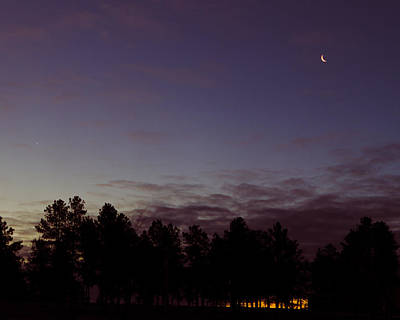 Photograph - Waning Crescent In Sunrise by Dakota Light Photography By Dakota