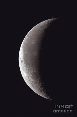 Waning Thin Crescent Moon, 2012 Art Print by John Chumack