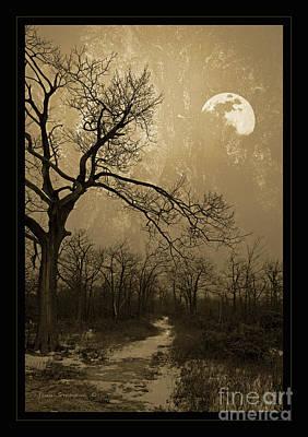 Waning Winter Moon Art Print by John Stephens