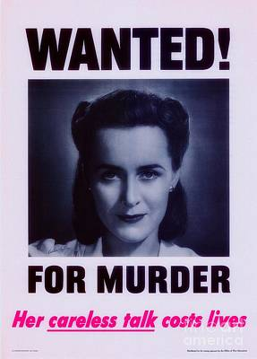 Painting - Wanted For Murder by Doc Braham