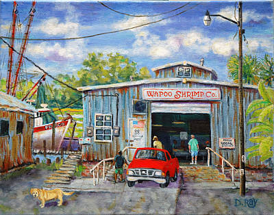 Wapoo Shrimp Company Art Print by Dwain Ray