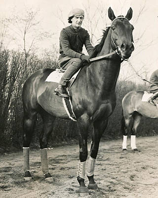 Jockeys Photograph - War Admiral Vintage Horse Racing #001 by Retro Images Archive