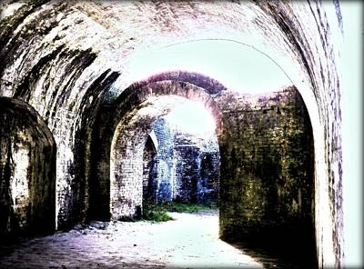 Photograph - War At Fort Pickens by Faith Williams