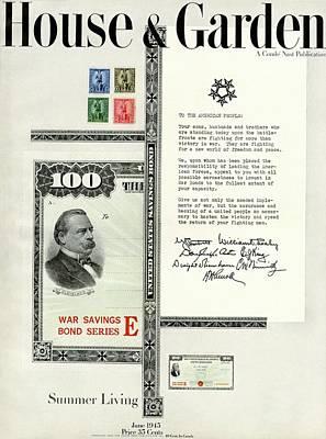 War Bonds Photograph - War Bonds, Stamps And A Letter by Priscilla Peck