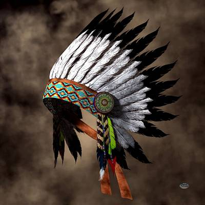 Totems Digital Art - War Bonnet by Daniel Eskridge