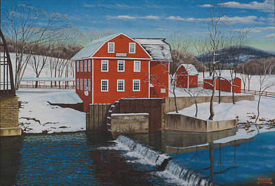 War Eagle Mill Art Print by Tim Birlson