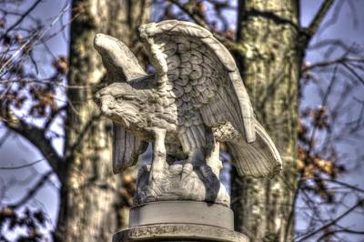 War Eagles - Vermont Company F 1st U. S. Sharpshooters-a1 Pitzer Woods Gettysburg Art Print by Michael Mazaika