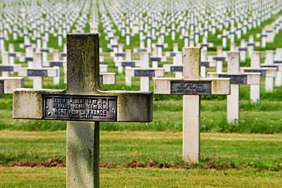 Arras Photograph - War Graves Cemetary by Cindy Amey