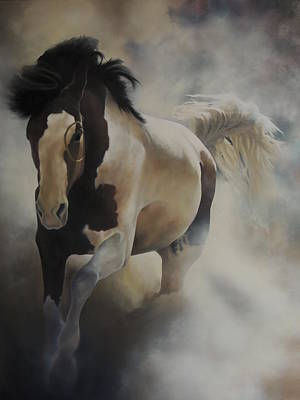 Pinto Painting - War Horse I by Daniel  Remmenga