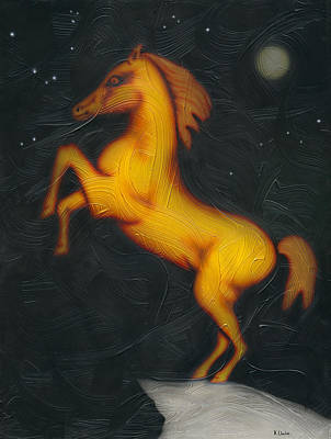 Painting - War Horse. by Kenneth Clarke