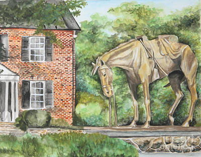 Painting - War Horse Memorial by Kathy Laughlin