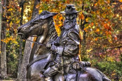 War Horses - Lieutenant General James Longstreet Commanding First Corps Gettysburg Art Print by Michael Mazaika