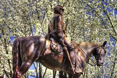 War Horses - The Picket - Brigadier General Judson Kilpatrick Commanding Battle Of Hanover Art Print by Michael Mazaika